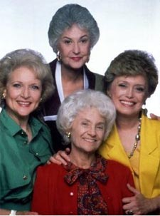Estelle Getty [front] with cast of 'The Golden Girls'