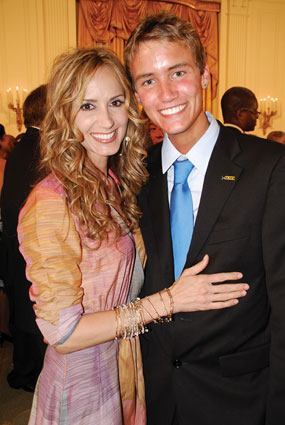 Chely Wright and Austin Laufersweiler at the White House