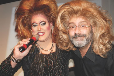 Glamour Glitter and Gold Oscar Party at Town: Lena Lett and Randy Shulman