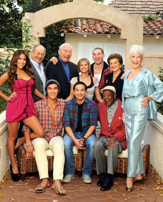 Christian Taboada (center front) with cast of TV Land's ''Forever Young''