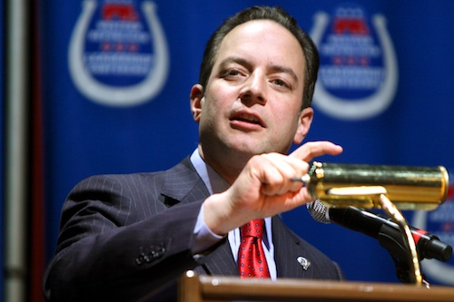 Reince Priebus, chairman of the Republican National Committee.