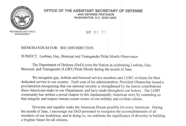 safety memo template - pentagon marks lgbt pride month while omitting trans