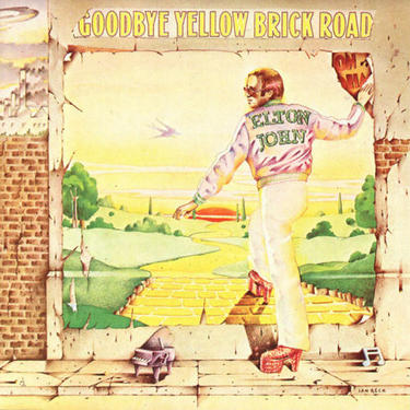 Elton John Goodbye Yellow Brick Road cover