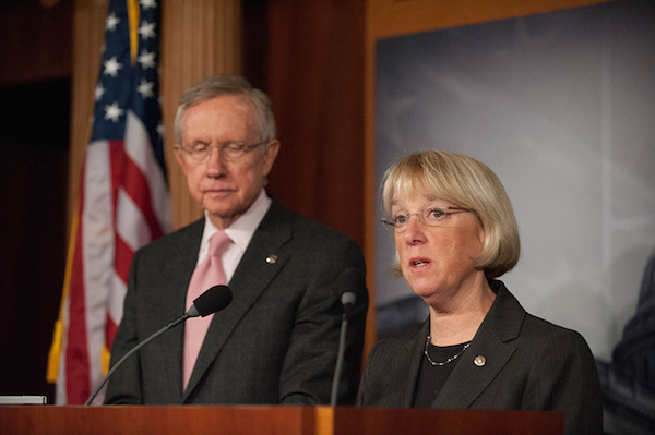 Photo: Sen. Patty Murray (left). Credit: Senate Democrats/flickr.