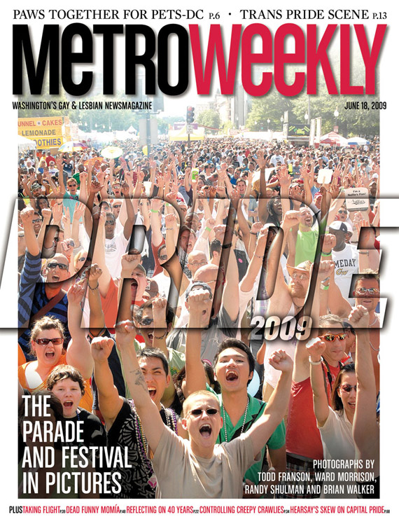 Capital Pride Festival cover June 17, 2009