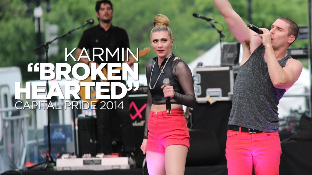 Karmin Brokenhearted at Capital Pride 2014