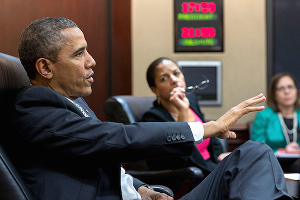 Photo: President Barack Obama and National Security Advisor Susan Rice. Credit: Official White House Photo by Pete Souza.