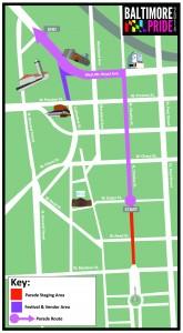 Baltimore Pride map 2014