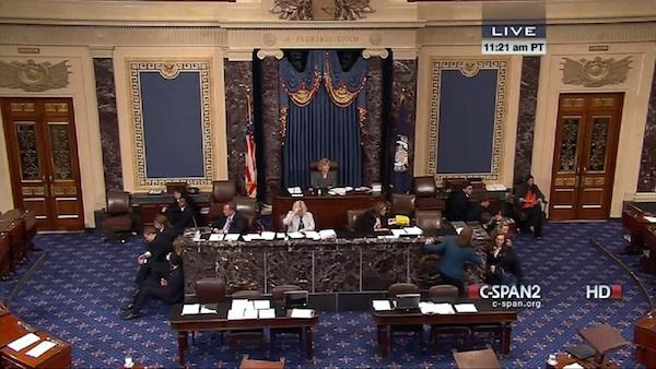 Image: U.S. Senate. Credit: Screenshot via C-SPAN.