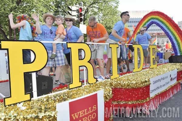 Wells Fargo float at Capital Pride Parade (Click for more photos)