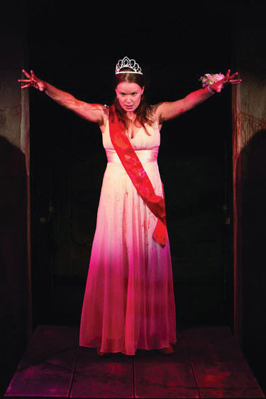 Emily Zickler as Carrie White: Carrie The Musical Photo by Igor Dmitry