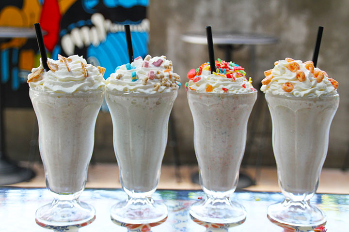 The Satellite Room offers cereal-inspired boozy brunch milkshakes. Photo courtesy of The Satellite Room.