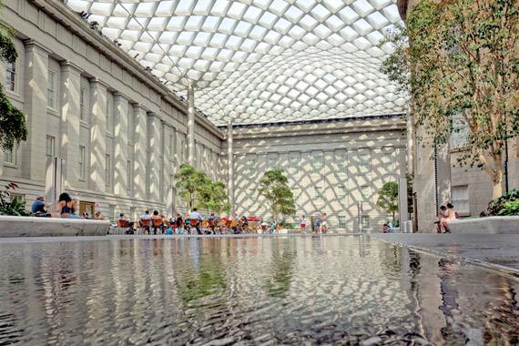 Kogod Courtyard at the National Portrait Gallery Photo by Todd Franson