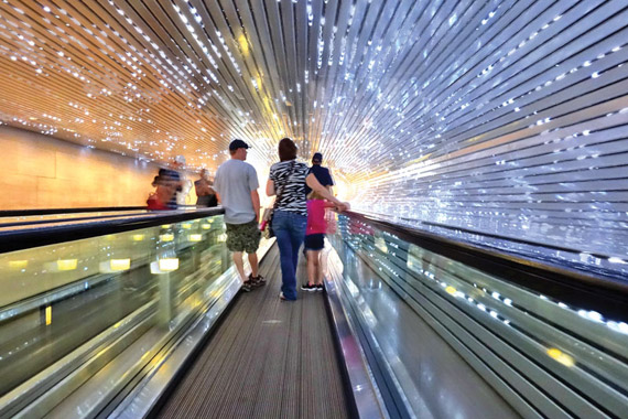 """National Gallery of Art: Leo Villareal's """"Multiverse"""" light sculpture tunnel Photography by Todd Franson"""