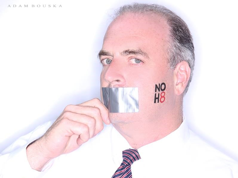 Rep. Dan Kildee, in a portrait for the NOH8 campaign