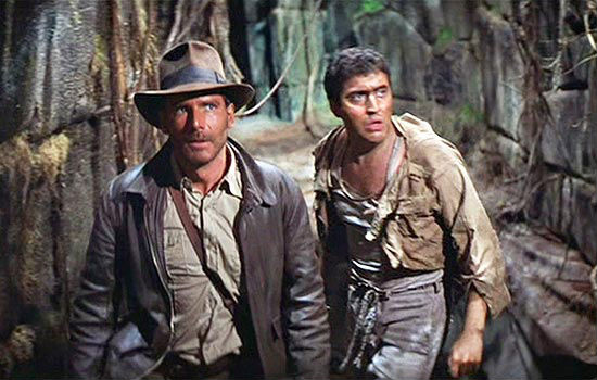 Harrison Ford and Molina in Raiders of the Lost Ark