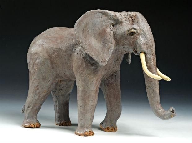 Elephant Sculpture by Trinka Roeckelein