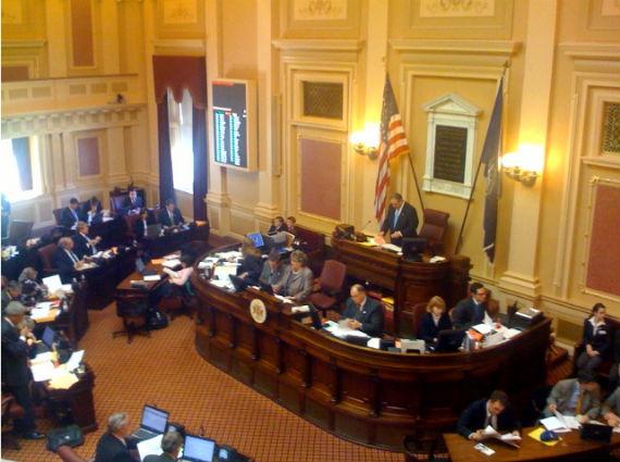 Virginia Senate chamber (Courtesy of Wikimedia Commons. Photo credit: Waldo Jaquith).