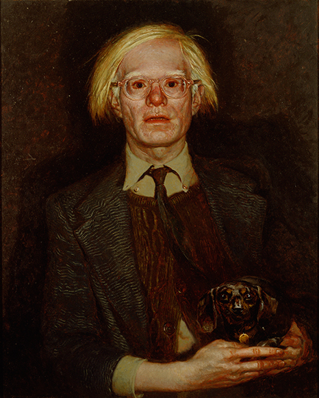 Andy Warhol by Jamie Wyeth (born 1946), Oil on panel, 1976