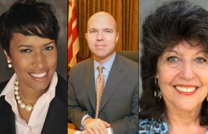 Muriel Bowser, David Catania and Carol Schwartz