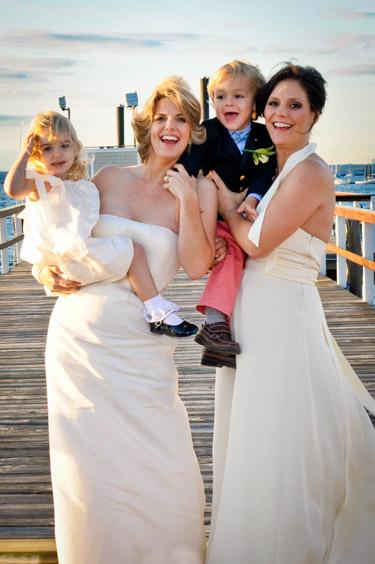 Sara Kate Ellis' wedding day