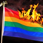 gay, lgbtq, pride, flag, fire