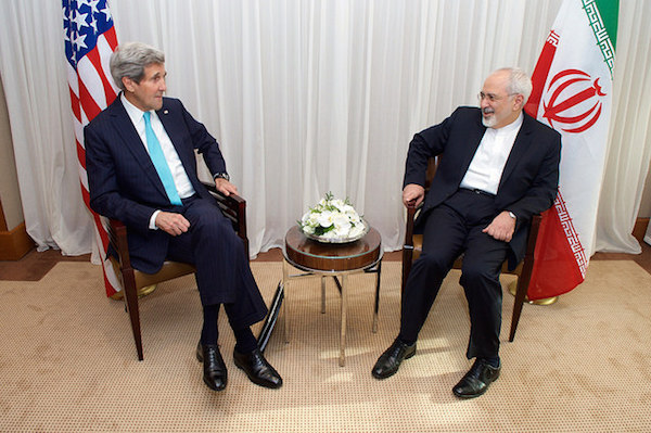 John Kerry (right) and Iranian Foreign Minister Javad Zarif - Credit: State Department/flickr