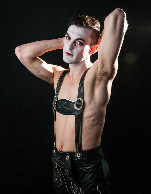 "Wesley Taylor in ""Cabaret"" at Signature Theatre -- Photo by Todd Franson"