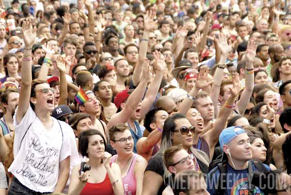 The crowd at the 2014 Capital Pride Festival - Photo: Ward Morrison