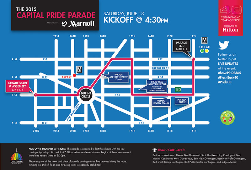 2015 Pride Parade Map