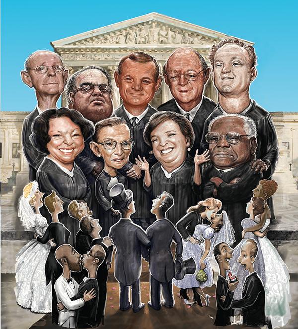 Supreme Ruling - Illustration: Scott G. Brooks