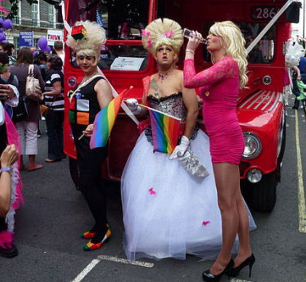 Drag performers at London Pride 2011 (Credit: Gary Bembridge, via Wikimedia Commons).