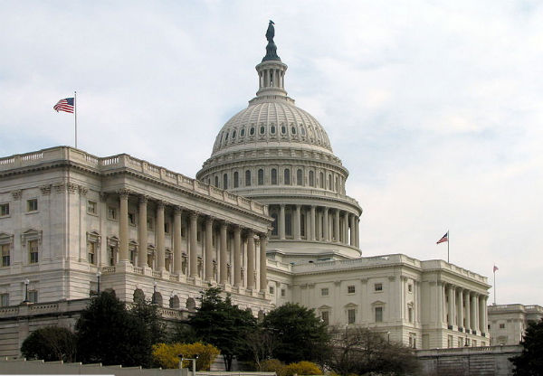 The Senate side of the U.S. Capitol building (Credit: Scrumshus, via Wikimedia Commons).