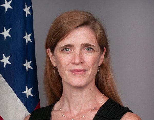 U.S. Ambassador to the United Nations Samantha Power (Credit: U.S. State Department, via Wikimedia Commons).