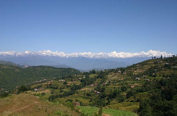 A shot of Nepal's Kathmandu Valley, near Nagarkot (Photo: Uwe Gille, via Wikimedia Commons).