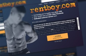 Landing page of rentboy.com - via Archive.org