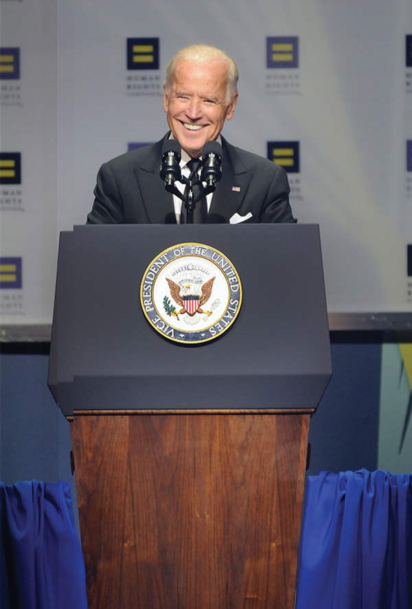 Joe Biden at HRC 19th Dinner - Photo: Ward Morrison