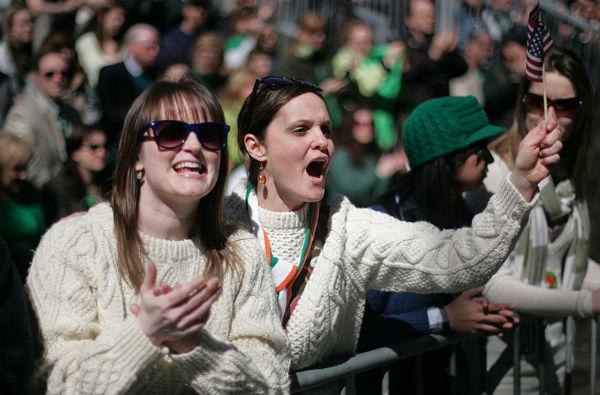 Revelers at New York's St. Patrick's Day Parade (Photo: Sgt. Randall Clinton, via Wikimedia Commons).