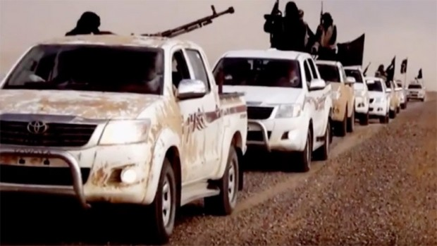 ISIS with Toyota trucks
