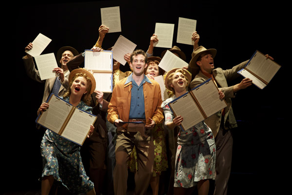 AJ Shively and the cast of Bright Star - Photo: Joan Marcus