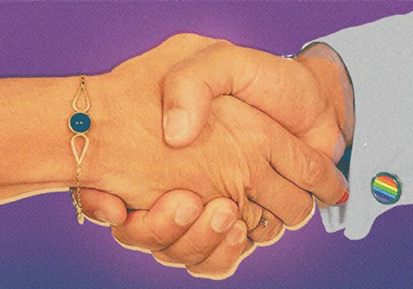 Allies handshake