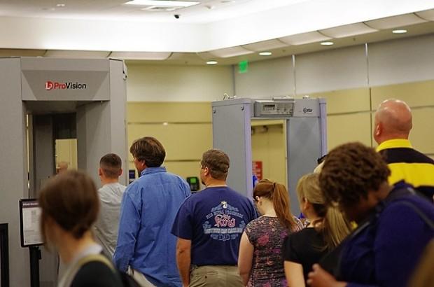 TSA Body Scanner Line, Credit: David Prasad / Flickr