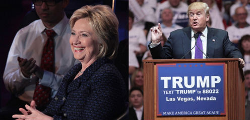 Hillary Clinton and Donald Trump (Photos: Gage Skidmore, via Wikimedia Commons).