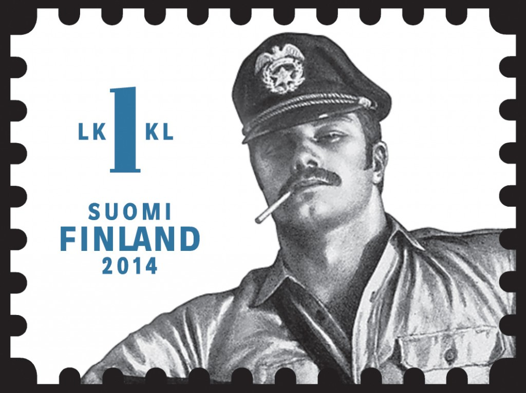 One of Finland's Tom of Finland stamps, Credit: itella / Tom of Finland Foundation