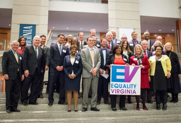 Members of the Democratic House and Senate caucuses at Equality Virginia's Day of Action and Legislative Reception (Photo: Equality Virginia, via Facebook).