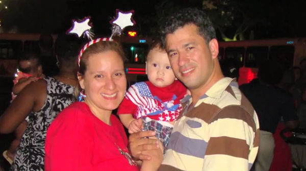 Zoila Fajardo, her husband and her daughter, Ariel (Photo from Trans United Fund's ad, via YouTube).