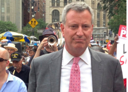 New York Mayor Bill de Blasio (Photo: Flickr photo by Bill de Blasio,  via Wikimedia).
