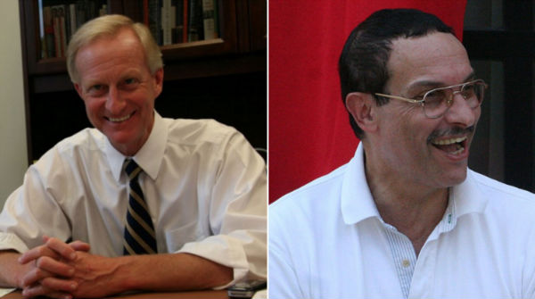 Councilmember Jack Evans, D-Ward 2 (Photo via Facebook) and Ward 7 candidate Vincent Gray (, via Wikimedia) .