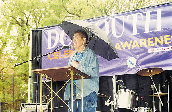 Eleanor Holmes Norton speaking at Youth Pride - File photo / Metro Weekly