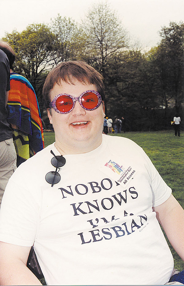 Chris Dyer at 2001 Youth Pride - File photo / Metro Weekly